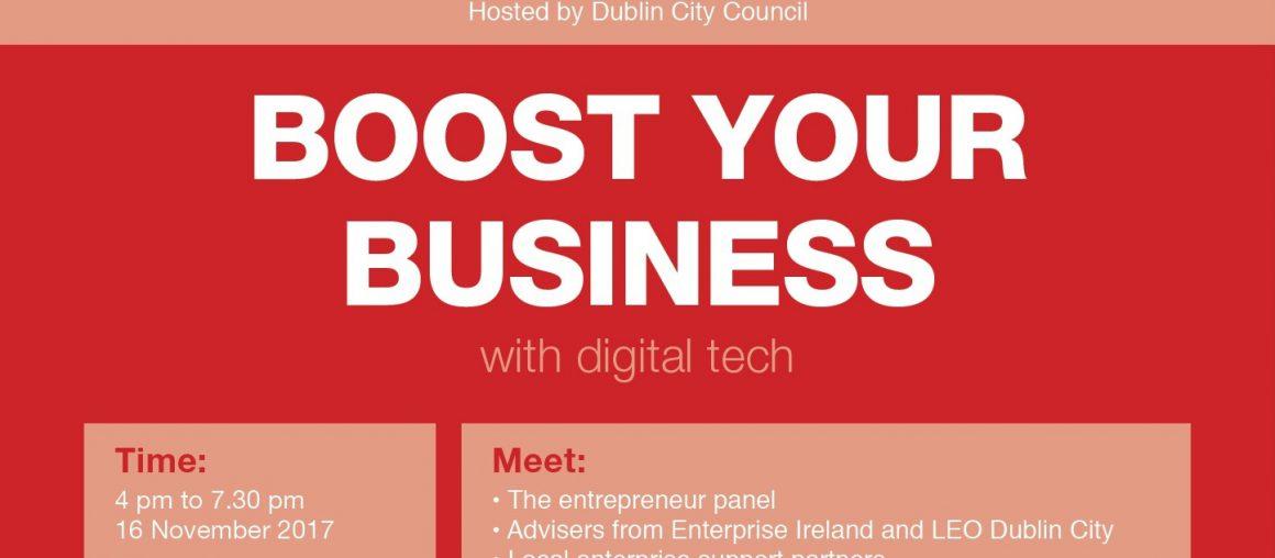 Boost Your Business - StartUp Ballymun - 16 November 2017