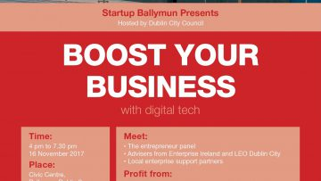 Boost Your Business - StartUp Ballymun - 16 November 2017